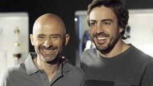 Antonio Lobato y Fernando Alonso.