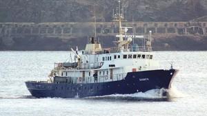 Barco alquilado para la misión ultraderechista en el Mediterráneo central.