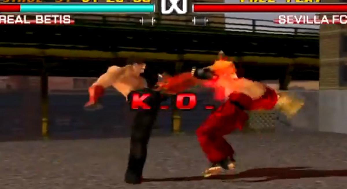 Simulación de un combate en Tekken 3 entre Betis y Sevilla