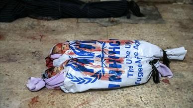 Una nueva imagen de la barbarie de los bombardeos contra civiles en Siria