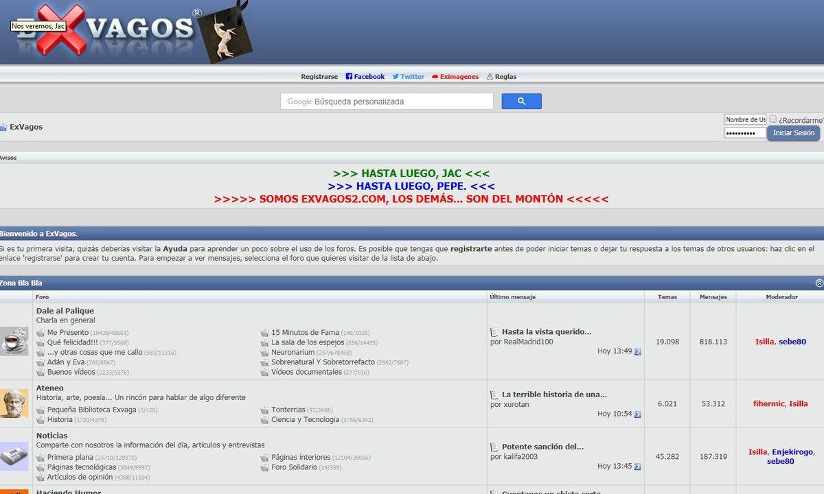 Captura de la web exvagos.com.