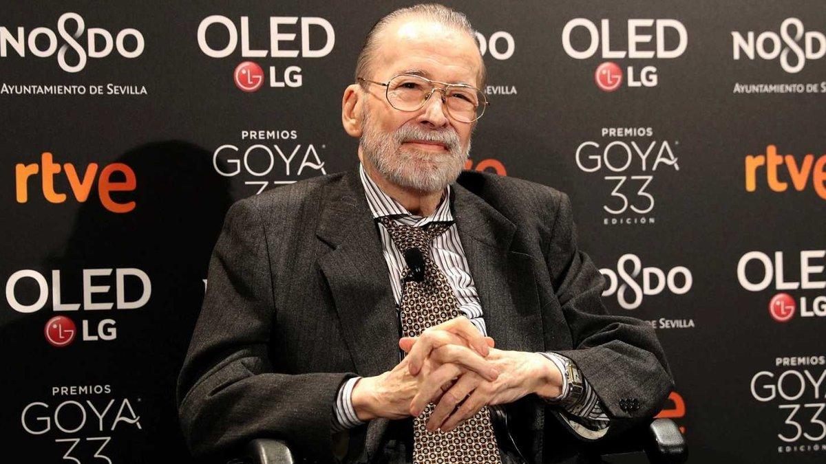 Chicho Ibáñez Serrador en la entrega de su Goya de Honor.