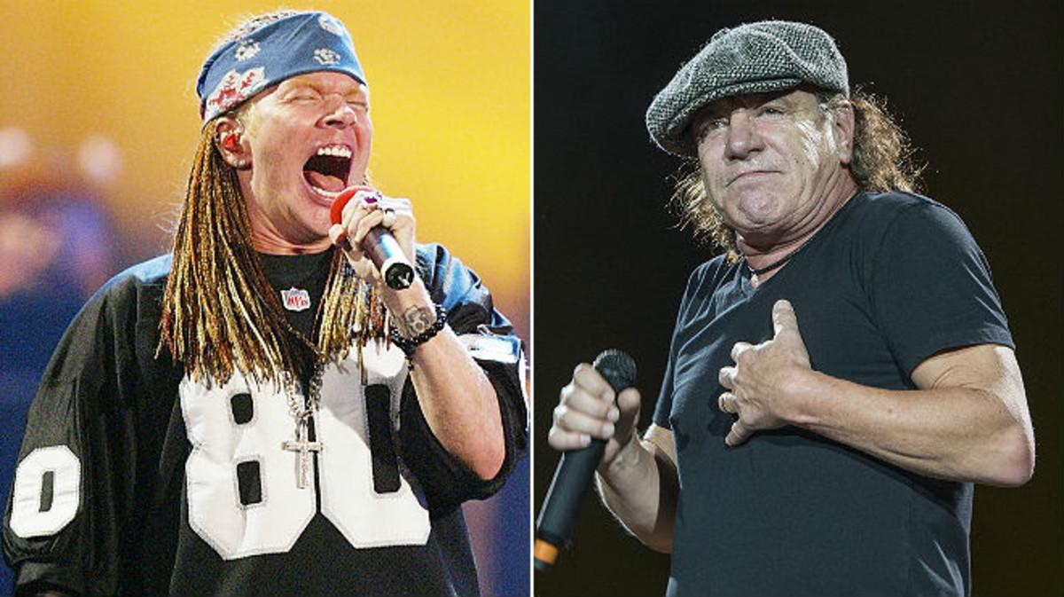 Confirmado, Axl Rose será el nuevo vocalista de AC/DC en la próxima gira europea.