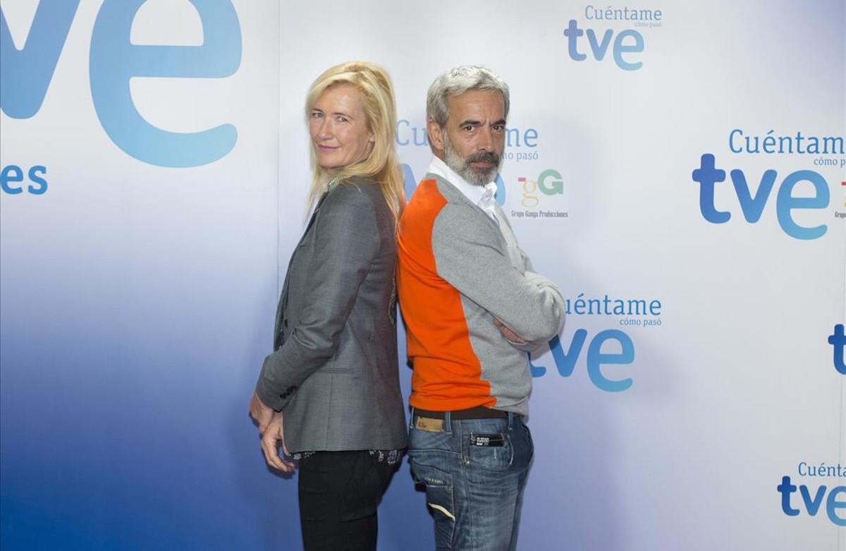 Imanol Arias y Ana Duato, protagonistas de la serie de TVE Cuéntame cómo pasó.
