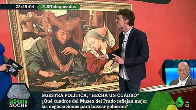 Clase de arte y política en 'La Sexta noche'.