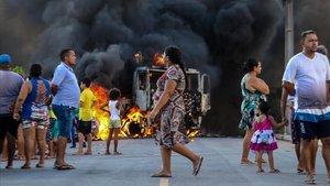 Imagen de los disturbios en Fortaleza.