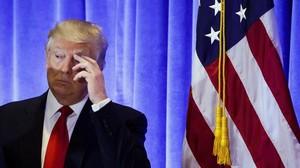 Donald Trump, en una conferencia de prensa en Nueva York, el 11 de enero.