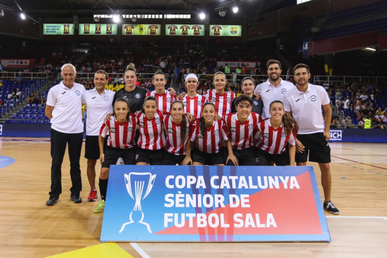 El equipo femenino de la AE Penya Esplugues logra su tercera Copa de Catalunya consecutiva