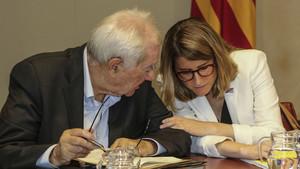 Ernest Maragall y Elsa Artadi, en una reunión del Govern.