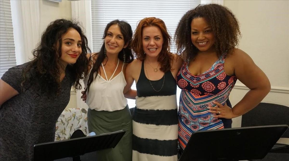 De izquierda a derecha, Victoria Hamilton-Barrit, Madalena Alberto, Rachel Tucker y Marisha Wallace en una imagen reciente.
