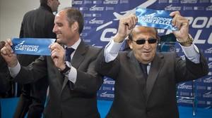 Francisco Camps y Carlos Fabra, durante la inauguración del aeropuerto de Castellón.