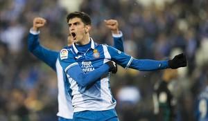 Gerard Moreno, durante el partido ante el Madrid.