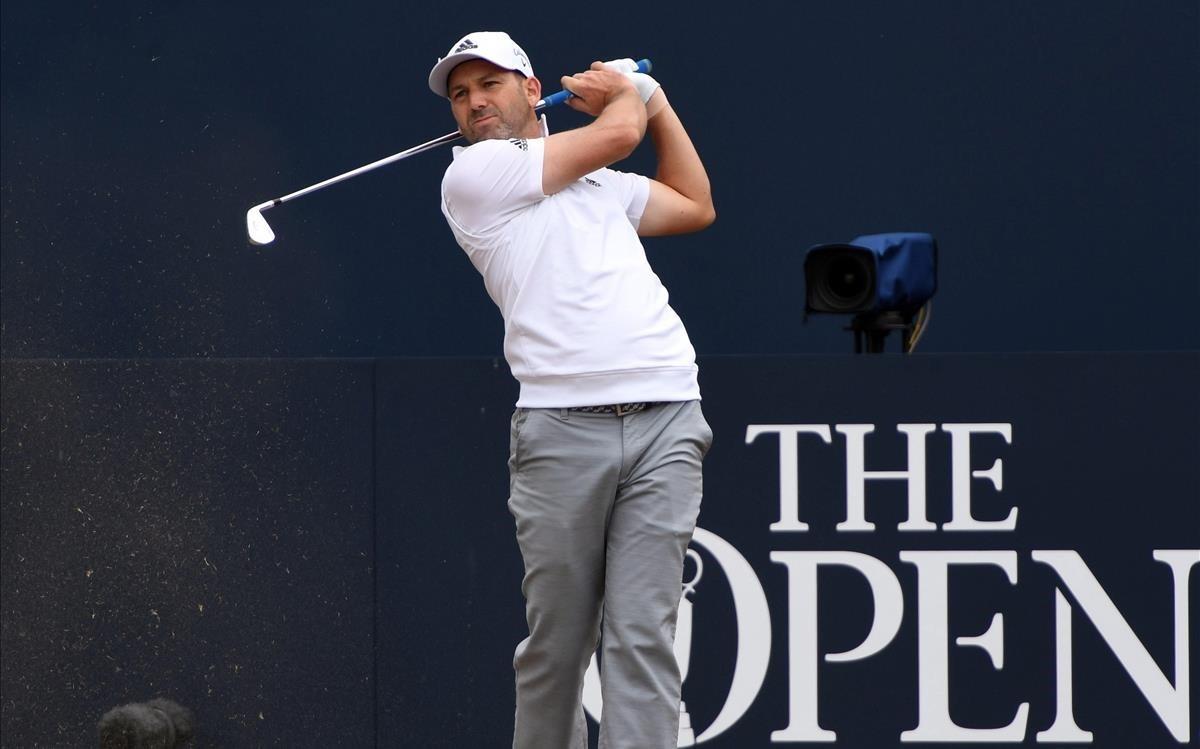 El golifsta castellonense Sergio García durante el entrenamiento previo al Open