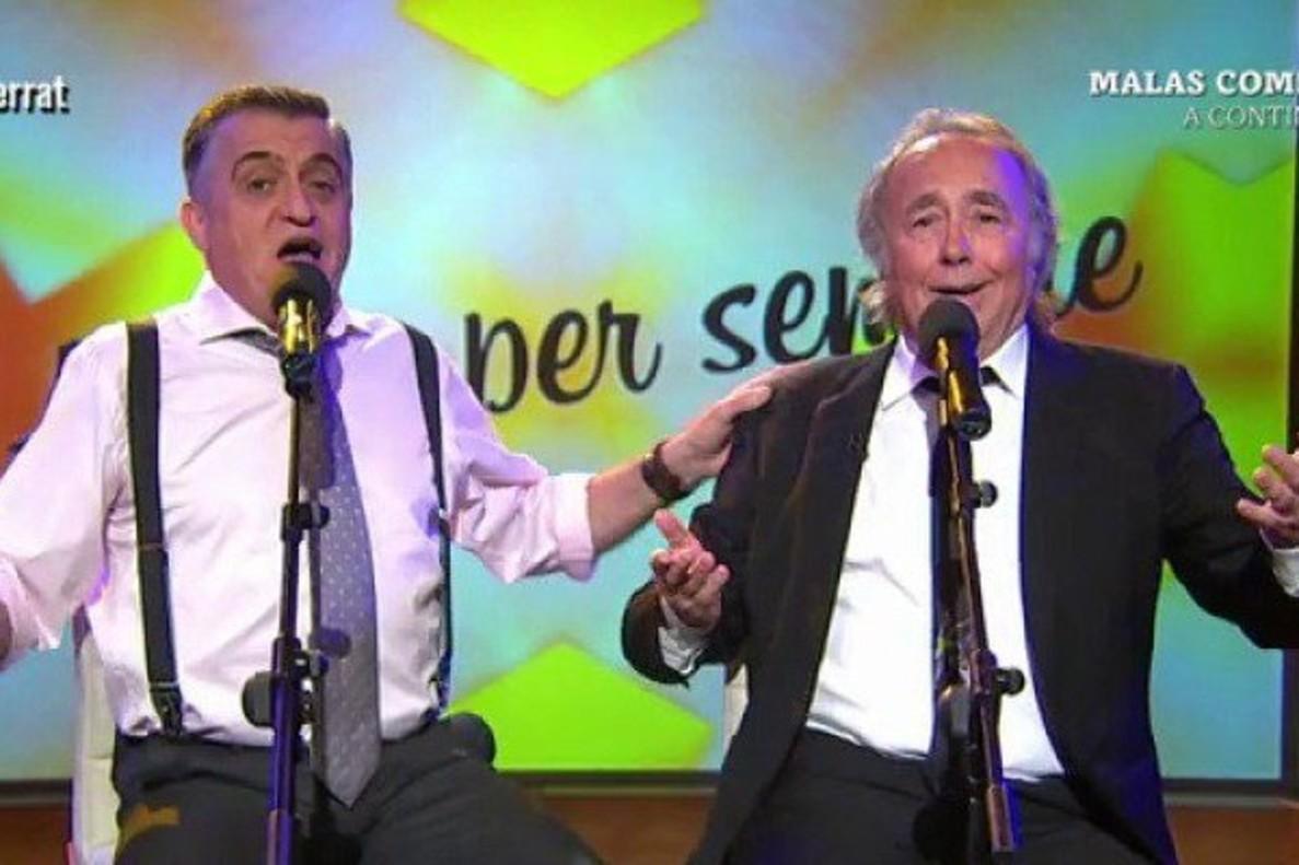 Joan Manuel Serrat habla en 'El Intermedio' del veto a su tema catalán en Eurovisión antes de interpretar 'Amigos para siempre'