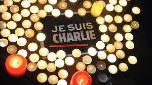 Homenaje a las víctimas del atentado contra 'Charlie Hebdo' en París.