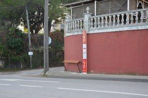 Una de las paradas donde se ha instalado este tipo de soportes es la de Sant Muç.