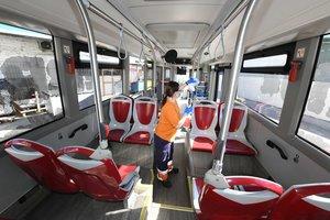 RubíBus intensifica la neteja i desinfecció de la seva flota de vehicles davant de l'augment d'usuaris