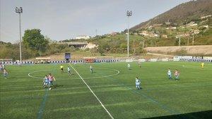 Imagen de un partido de fútbol de cadetes