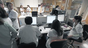 Zona de control de urgencias en el Hospital Clínic de Barcelona