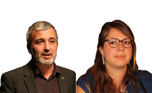 Jaume Collboni y Janet Sanz
