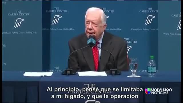 L'expresident dels EUA Jimmy Carter ha explicat que el càncer que tenia ha fet metàstasi al cervell.