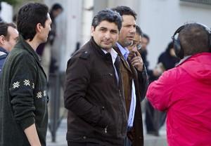 Juan José Cortes, a larribar a lAudiència de Huelva per assistir a lúltima sessió del judici contra Santiago i Rosa del Valle, el 25 de febrer.