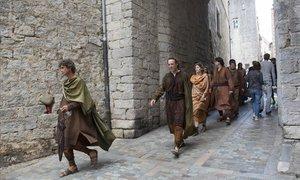 Figurantes de Juego de tronos, en Girona.