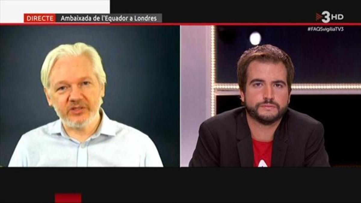 Julián Assange en Preguntes freqüents (TV-3).