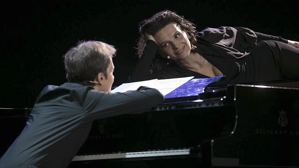 Juliette Binoche y Alexandre Tharaud, en el Festival de Peralada
