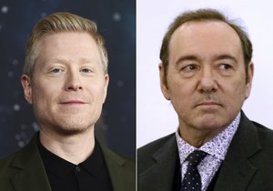 Actor Anthony Rapp attends the Star Trek: Discovery season two premiere in New York on Jan. 17, 2019, left, and actor Kevin Spacey is seen during his arraignment on a charge of indecent assault and battery in Nantucket, Mass., on Jan. 7, 2019. On Wednesday, Sept. 9, 2020, Rapp was one of two men who filed a lawsuit against Spacey, accusing the actor of sexual assaults in the 1980s when he and the other plaintiff, who is known as C.D. were teens. (AP Photo, File)