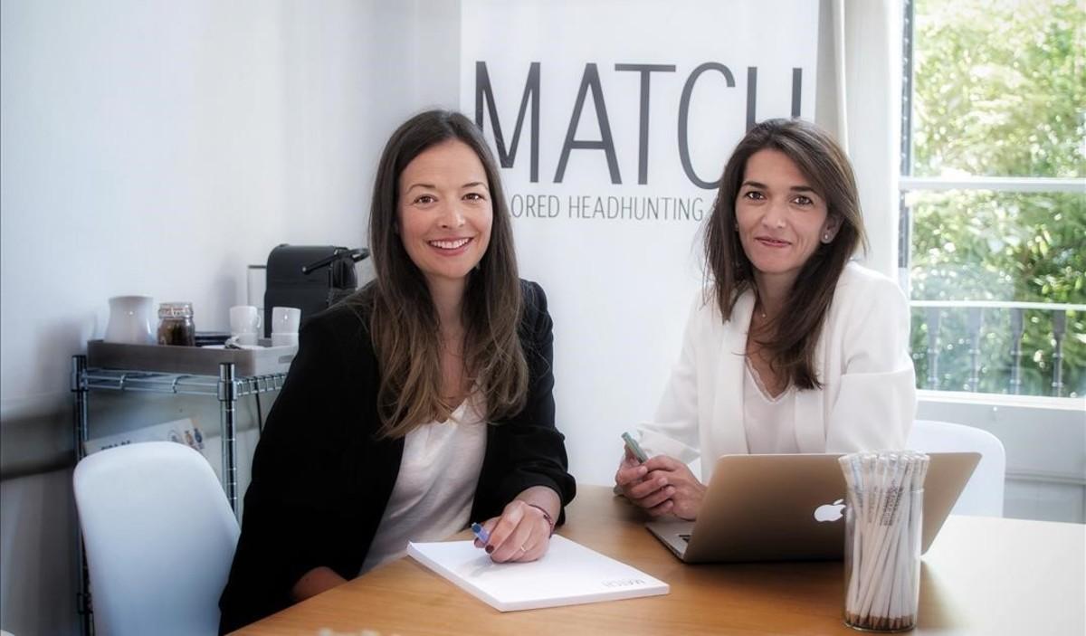 Las responsables de la empresa Match.