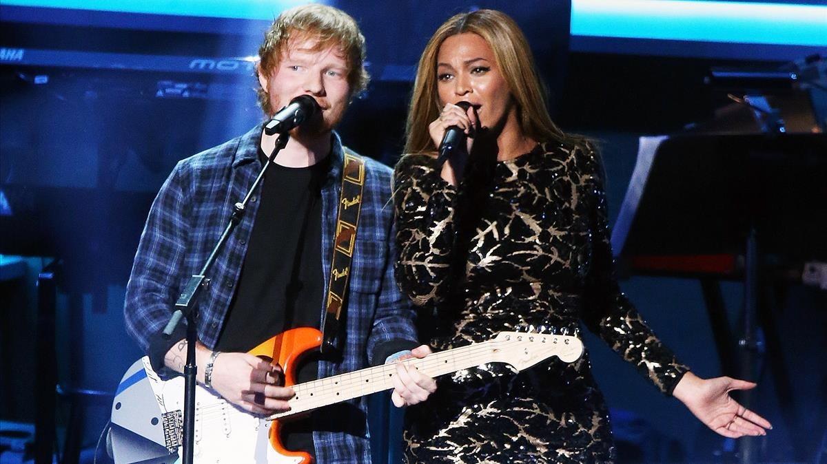 Ed Sheeran y Beyoncé.