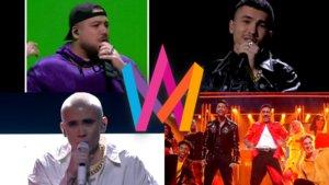 Los ganadores de los duelos del Andra Chansen del Melodifestivalen 2020.