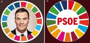 Los nuevos avatares de PedroSánchez y el PSOE en Twitter
