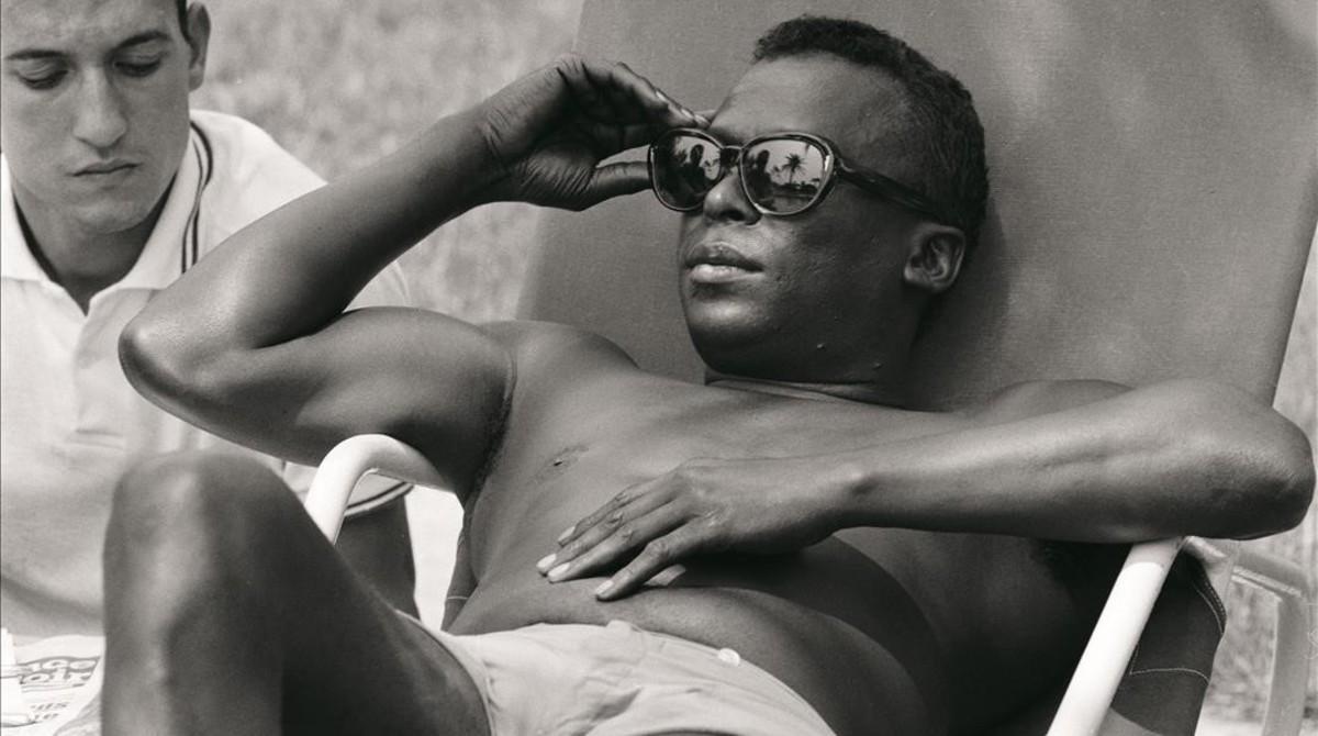 Miles Davis enJuan-les-Pains, Antibes, en julio de 1963.