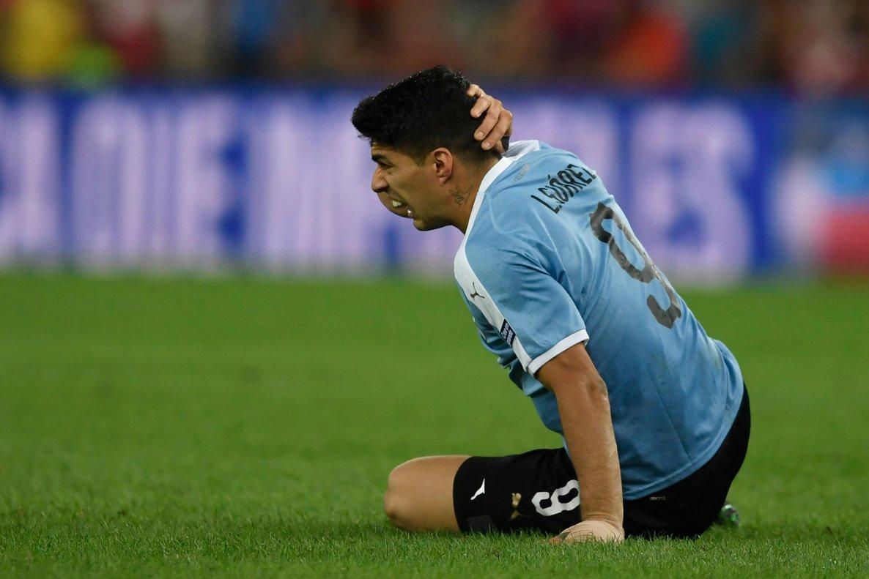 Luis Suárez, durante el partido Uruguay-Chile.