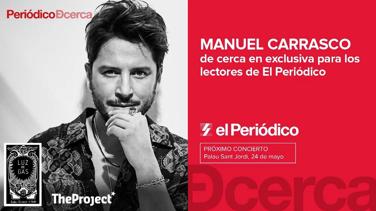 Manuel Carrasco de cerca en exclusiva para los lectores de El Periódico