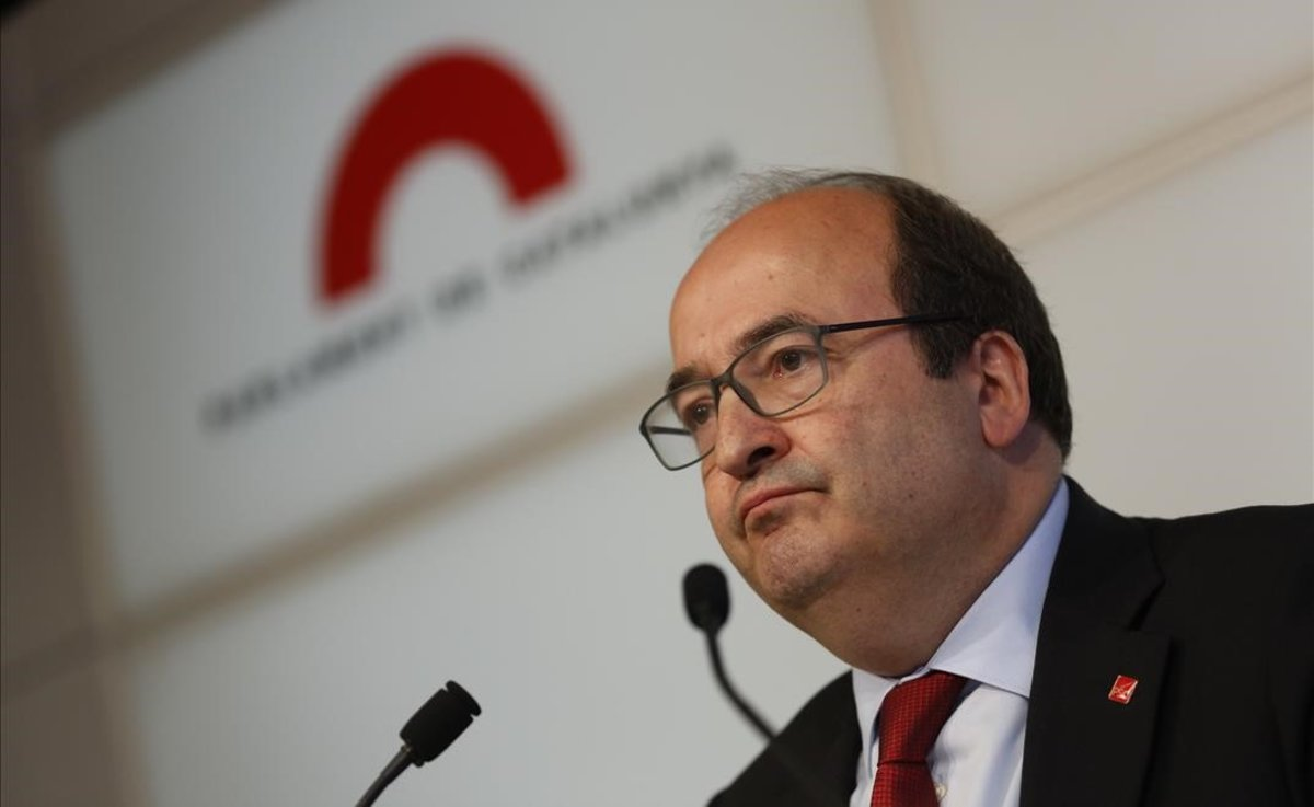 Miquel Iceta, en el Parlament.