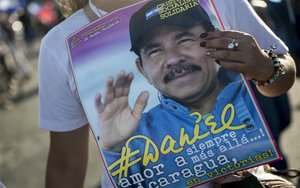 Imagen de propagandadel presidente de Nicargaua Daniel Ortega.