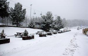 Nieve en las pistas de esquí de La Molina (Cerdanya).