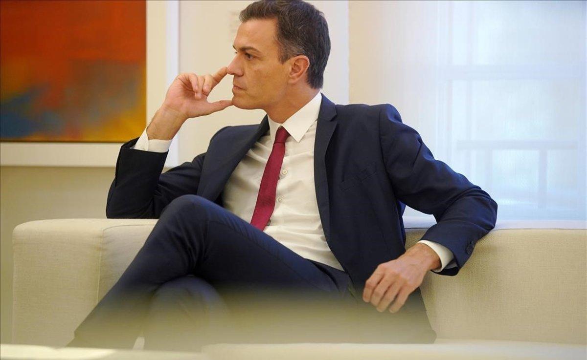 Pedro Sánchez, en una reunión.