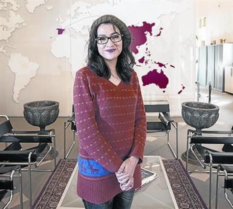 La periodista Mariam Mana durante su reciente visita a Barcelona.