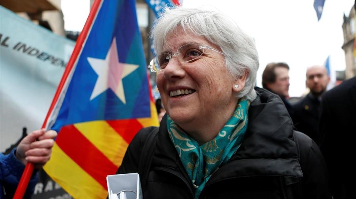 Ponsatí, llegaa un juzgado de Escocia, en abril del 2018.