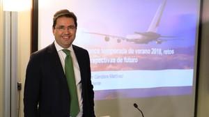 El presidente de la Asociación de Líneas Aéreas (ALA), Javier Gándara.