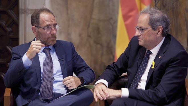 Quim Torra: «El mandat de l'1-O anirà endavant si Espanya no negocia»