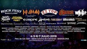 Cartel del Rock Fest del 2019.