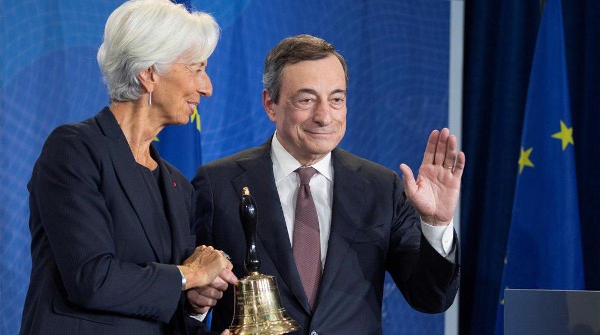 Lagarde y Draghi en la despedida del segundo esta semana.