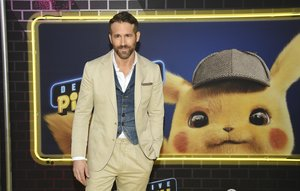 Actor Ryan Reynolds attends the premiere of Pokemon Detective Pikachu at Military Island in Times Square on Thursday, May 2, 2019, in New York. (Photo by Evan Agostini/Invision/AP)
