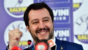 Mateo Salvini, líder de la Liga.