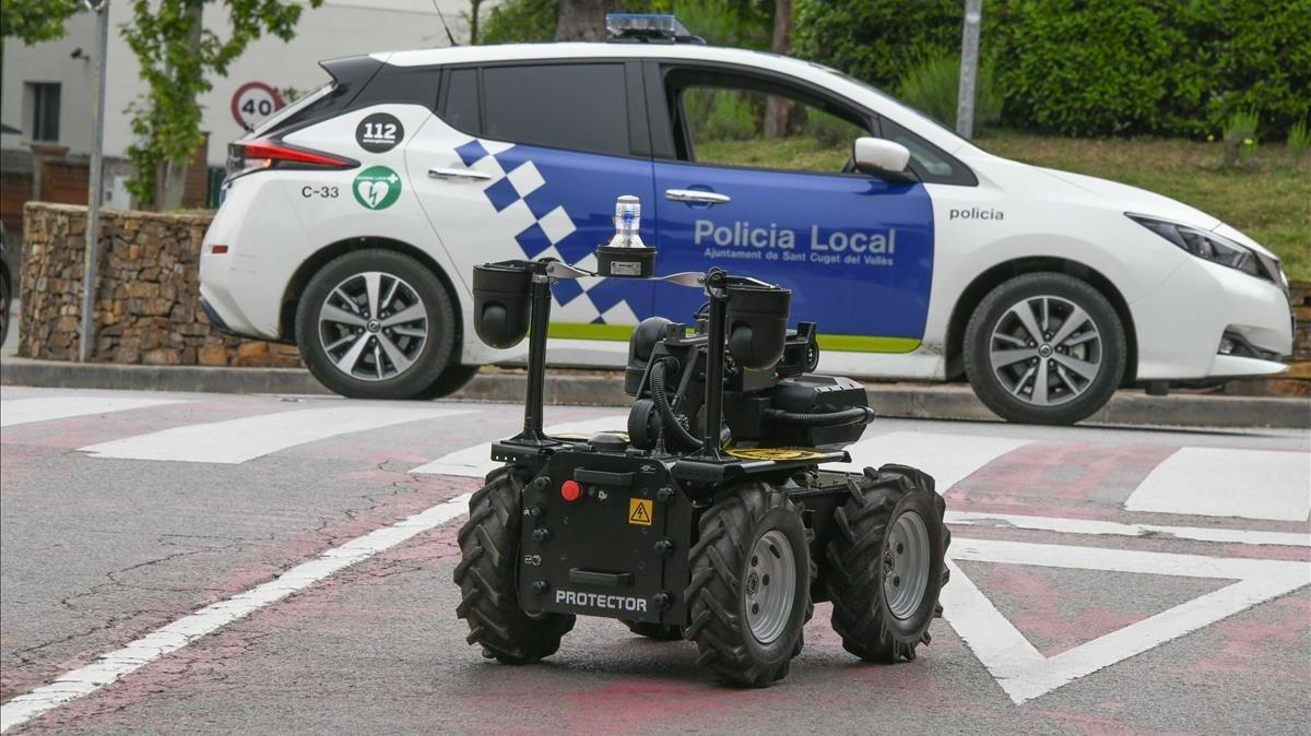 El robot de la policía de Sant Cugat, presentado este miércoles